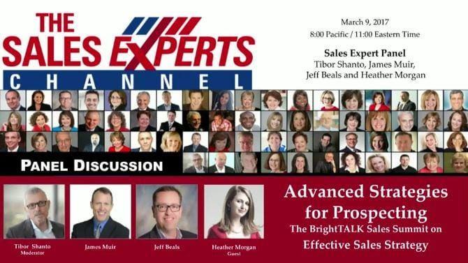 Advanced Strategies for Prospecting Panel Discussion on Sales Experts Channel